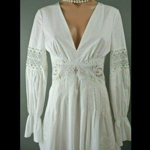 Free People White mini Dress 0 boho formal summer